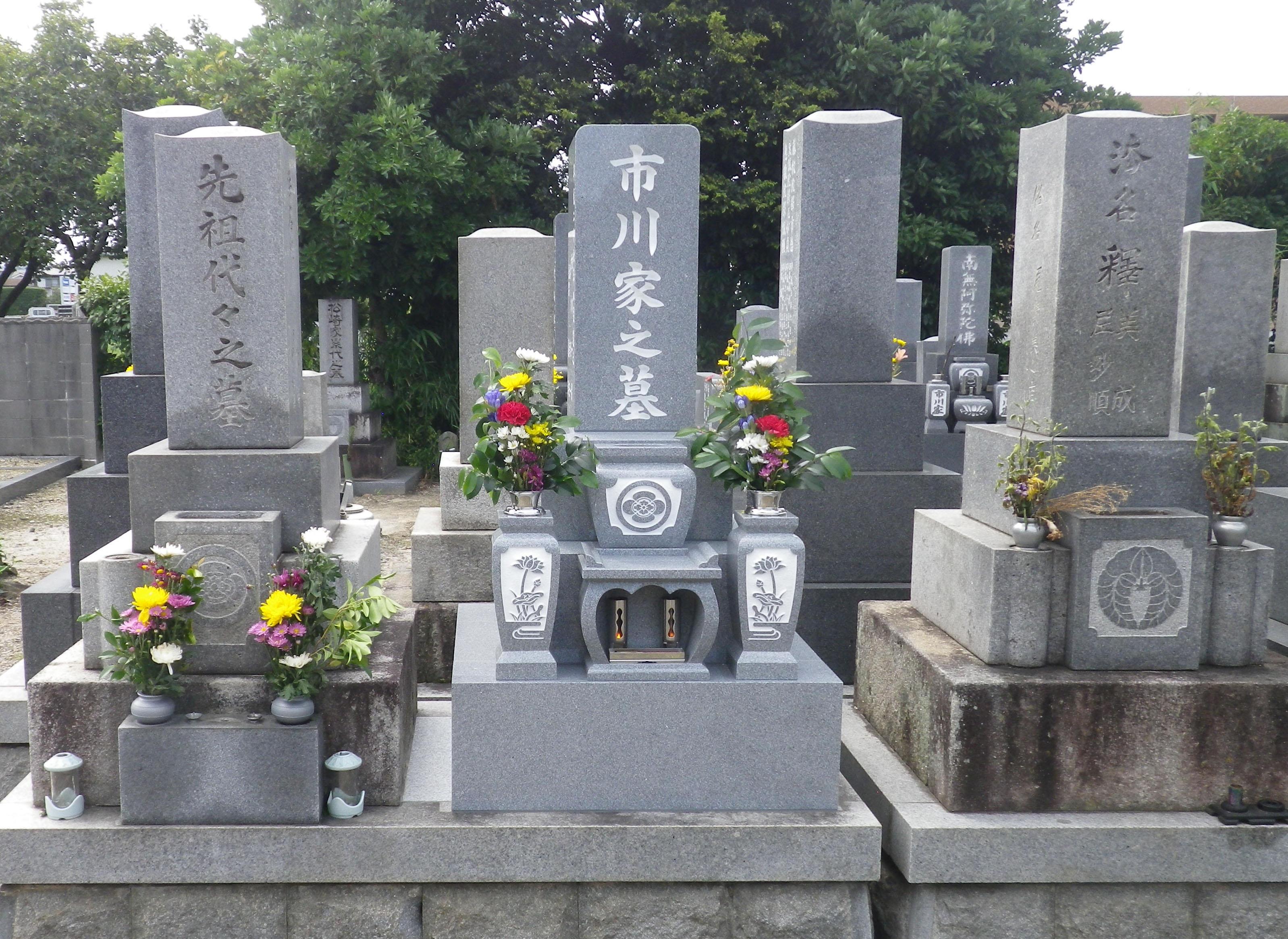 201508 ○西尾市 寺院墓地(玄照寺) 中国産 CF88 9寸和型 市川一男様
