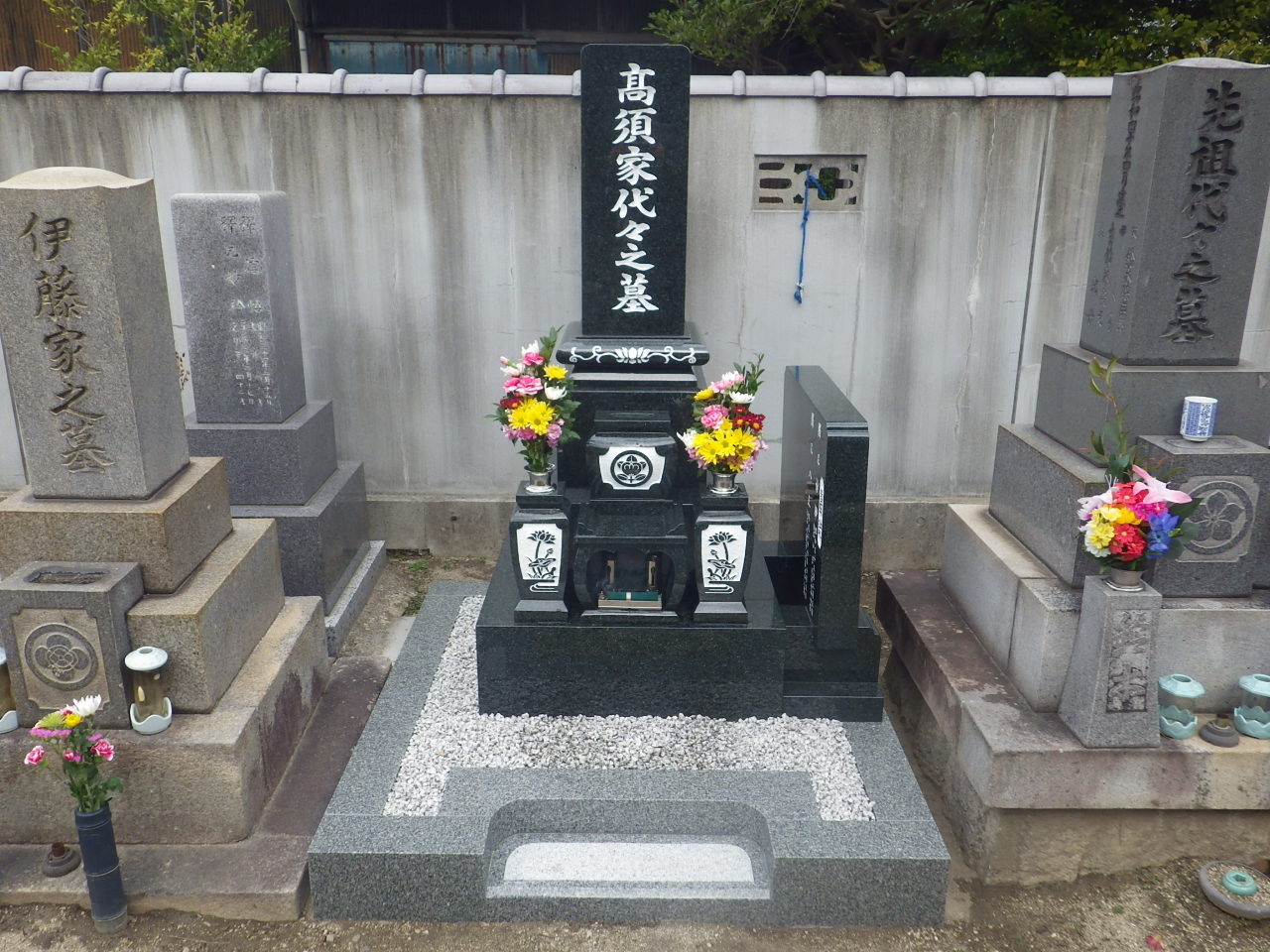 201603 ○西尾市 寺院墓地(安休寺)  インド産M1-H 8寸和型 髙須哲也様