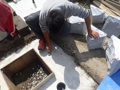 碧南市、西尾市で墓石工事