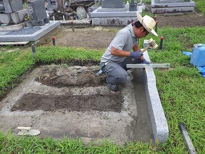 岡崎市、碧南市、平和公園で墓石工事