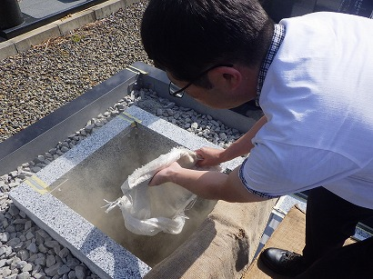 西尾市、豊田市で墓石工事
