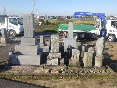 西尾市、大治町で墓石工事