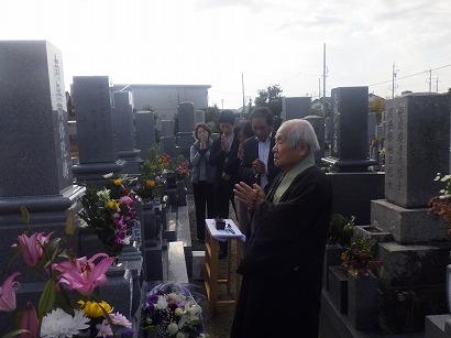 岡崎市で完成したお墓への開眼・納骨式