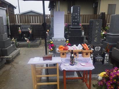 西尾市で完成したお墓への開眼・納骨式×2
