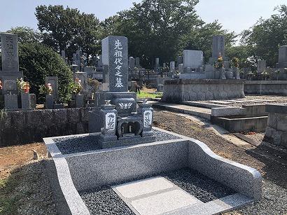湖西市で墓石工事