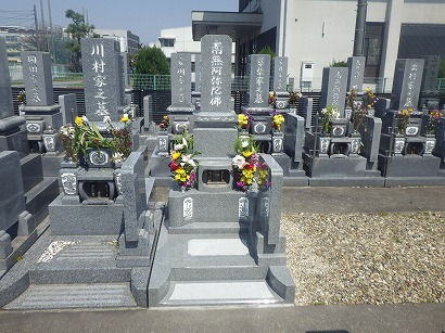 大治町で完成したお墓への開眼・納骨式