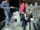 墓石を設置しています